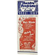 Vintage Theatre Program - 1949 - Pig'n Whistle and Other Advertising