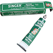 Vintage, Singer Sewing Machine Grease Tube