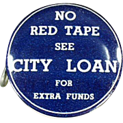 Old, Celluloid Advertising Tape Measure - City Loan of Ohio