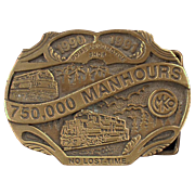 Old Belt Buckle - Morrison Knudsen, Locomotive Shop - Limited Edition
