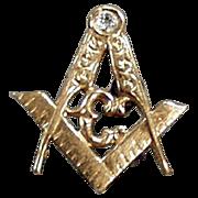 Vintage, Masonic Lapel Pin - Beautiful Detail