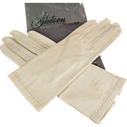 Vintage, Leather Gloves - Ladies Stetson Made in Italy- 1940's