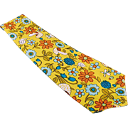 Man's Necktie - Custom Made, Wide, Colorful and Vintage