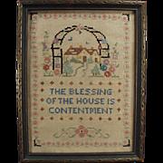 Vintage, Framed, Cross Stitch - House Blessing