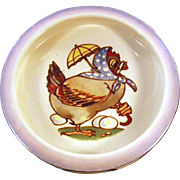 Vintage Baby Plate with Dressed Chicken - Mother Hen