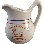 Vintage Restaurant China Creamer - Mayaland Lodge, Yucatan