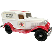 1986 Texaco #3, Ford Delivery Van, Bank - Ertl Die Cast