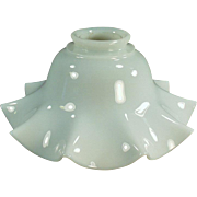 Vintage Light Fixture Shade - Fluted Milk Glass, Single