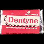 Vintage Gum Sample - Dentyne Tab