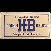 Vintage, H-B Cough Drops - Sample Box - Unopened
