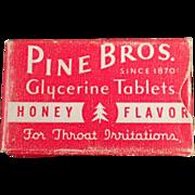 Vintage, Pine Bros.Cough Drops - Sample Box