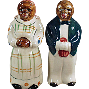 Vintage Black Memorabilia - Mammy & Butler Salt & Pepper Set