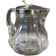 Vintage Syrup Pitcher - Heisey #359 - 12oz Size with Metal Lid