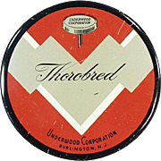 Vintage, Typewriter Ribbon Tin - Thorobred with Colorful Graphics