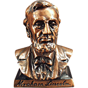 Vintage Bank -  Abraham Lincoln Bust - Figural Coin Bank