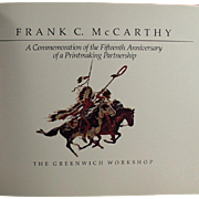 Old Paperback Book featuring the Work of Frank C. McCarthy - American West Art