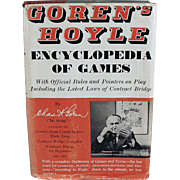 Old Book, Encyclopedia of Games by Goren - 1961 Hardbound