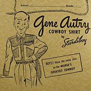 SALE PENDING Vintage, Gene Autry Composition Book - Falk's Store Advertising