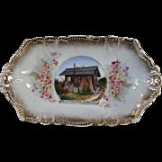 Vintage, Souvenir Pin Tray - Cedar Stump Home, Snohomish, Washington