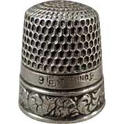 Vintage, Sterling Silver Sewing Thimble - Goldsmith Stern - Nice Design