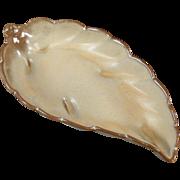 Vintage, Frankoma Leaf Dish, #225 - Desert Gold Glaze
