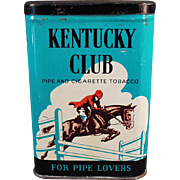 Vintage Tobacco Tin - Kentucky Club Pipe & Cigarette Tobacco