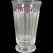 Vintage, Nestle's Advertising Soda or Malt Glass