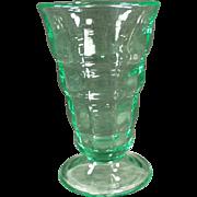 Vintage, Paden City Soda Fountain Malt Glass - Green