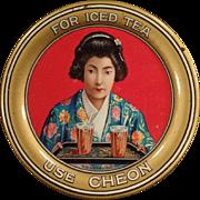 Vintage Advertising Tip Tray - Cheon, Oriental Tea