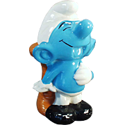 Vintage Blue Smurf - Belly Laughing Penny Bank
