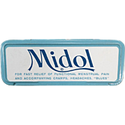 Vintage Medical Tin - Midol for Menstrual Disorders