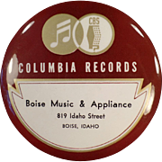 SOLD Vintage Celluloid, Columbia Record Duster from Idaho