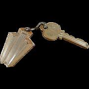 Vintage, Hotel Room Key with Metal Tag - Mark Hopkins of San Francisco