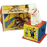 Vintage Wind Up Toy - Rex the Counting Dog with Box