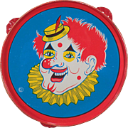 Vintage, Toy Tambourine - Funny Clown with Red Hair