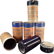 Vintage, Cylinder Phonograph Records - Edison, Blue Amberol - 5 w- Original Boxes
