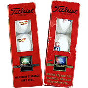 Titleist Advertising Logo Golf Balls - Two sleeves of 3 with Different Advertising