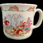 Vintage Royal Doulton - Bunnykins Mug - Roller Skating Theme