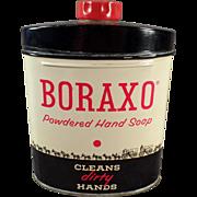 Vintage Boraxo Powdered Hand Soap Tin
