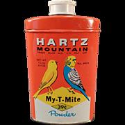 Vintage Hartz Mountain Tin - My-T-Mite for Birds - Nice Graphics