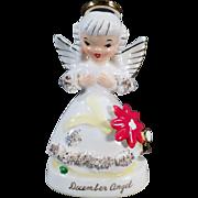 Vintage, December Birthday Angel, Napco Porcelain Figure
