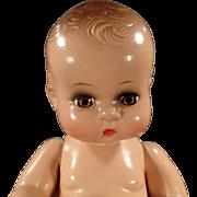 "Vintage Composition Doll - 11"" - Adorable Face"