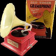 Vintage Music Box - Toy Gramophone with Original Box