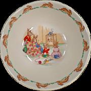 Vintage Royal Doulton - Bunnykins Bowl - T.V. Time
