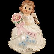 Vintage Birthday Angel Music Box - August