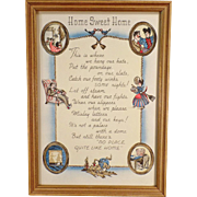 Vintage Motto Print - Home Sweet Home - Cute Graphics