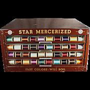 Vintage, Star Spool Cabinet - Metal Display Case