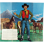 Vintage Party Game for Children - Pin the Gun on the Cowboy
