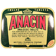 Vintage, Anacin Analgesic Tin - Twelve Tablet