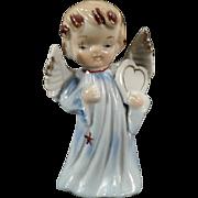 Vintage Porcelain Angel Figurine - Sweet Blonde Angel with Heart